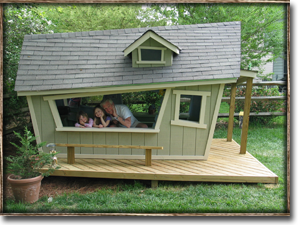 Side view of the playhouse